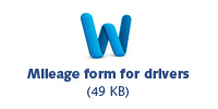 Mileage form icon