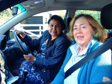 Tripti & Sally in car