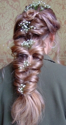 Flowers in hair upright